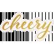 Positively Happy Cheery Word Art
