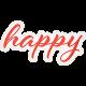 Positively Happy- Happy Word Art
