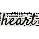 My Tribe Heart Word Art
