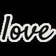 My Tribe Mini Love Word Art