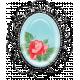 Retro Picnic Vintage Rose Brooch