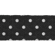 Retro Picnic Black Polka Dots Ribbon