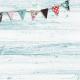 "Retro Picnic Journal Card Wood & Banner 4""x 4"""
