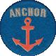 Nantucket Feeling {Sail Away} Anchor Sticker