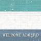 Nantucket Feeling {Sail Away} Wood Welcome 4x4 Journal Card