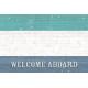 Nantucket Feeling {Sail Away} Wood Welcome 4x6 Journal Card