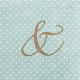 "Cherish Ampersand Journal Card 4""x 4"""