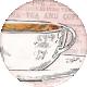 Tea in the Garden Teacup Round Sticker