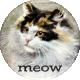 Furry Cuddles Meow Round Sticker