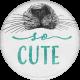 Furry Cuddles So Cute Round Sticker