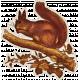 October Days Squirrel Sticker