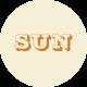 Apricity Print Label Sun Word Art