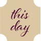 Apricity Print Label This Day Word Art