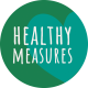 Healthy Measures Print Element Round Sticker Healthy