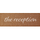 Rustic Wedding The Reception Word Art