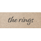 Rustic Wedding The Rings Word Art