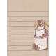 Rustic Wedding Journal Card Cake 3x4