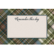 Rustic Wedding Journal Card Plaid 4x6