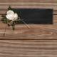 Rustic Wedding Journal Card Wood 4x4