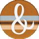 Lets Fika Ampersand Round Sticker