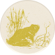 Naturally Curious Frog Round Sticker