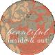 Classy Beautiful Round Sticker