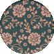 Classy Floral Round Sticker