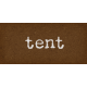 Camp Out : Lakeside Tent Word Art