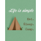 Camp Out Lakeside Simple Journal Card 3x4