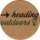 Camp Out Woods Round Sticker Outdoors