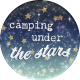 Camp Out Woods Round Sticker Stars