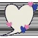 Kitty Love Element- Journaling Speech Bubble