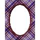 My Life Palette- 3x4 Oval Paper Frame (Lavender Plaid)