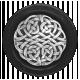 My Life Palette- Button (Silver Knotwork & Black)