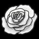 My Life Palette- Flower Doodle (White Rose)