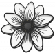My Life Palette- Flower Doodle (White Anemone)