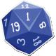 My Life Palette- Dice Sticker (Blue 1)