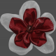 My Life Palette- Fabric Flower (Burgundy and White)