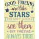My Tribe Word Art- Good Friends are like Stars