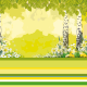 """Easter-Quick page """"Birches, easter flowers and colorful eggs"""""""