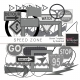 Speed Zone Element Templates Kit
