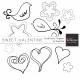Sweet Valentine Doodle Extras Templates Kit