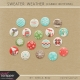 Sweater Weather Fabric Buttons Kit