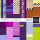 Purple & Green Backgrounds #1 Kit