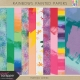 Rainbow Painted Papers Kit