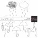 Umbrella Doodles Kit
