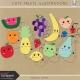 Cute Fruits Illustrations Kit