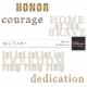 Military Word Art Kit