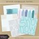 Winter Arabesque Papers Kit #1