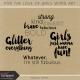 For the Love of Girls Word Art Kit